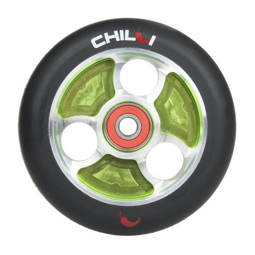 Chilli PRO 100 mm ALU / ABEC-9 hjul Silver Core