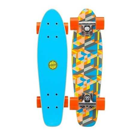 Image of   Mini Skateboard Black Dragon Blue