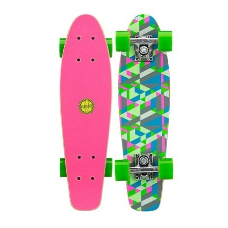 Image of   Mini Skateboard Black Dragon Green Pink