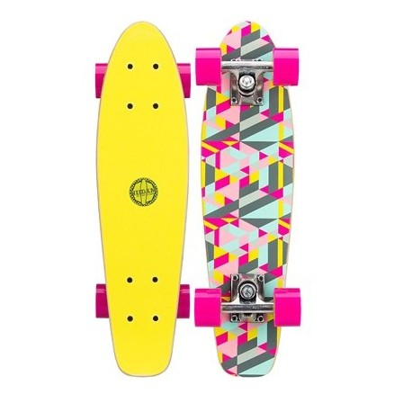 Image of   Mini Skateboard Black Dragon Pink Gul