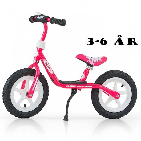 "Image of   Løbecykel Dusty 12"" fra Milly Mally 3 - 6 år Pink"
