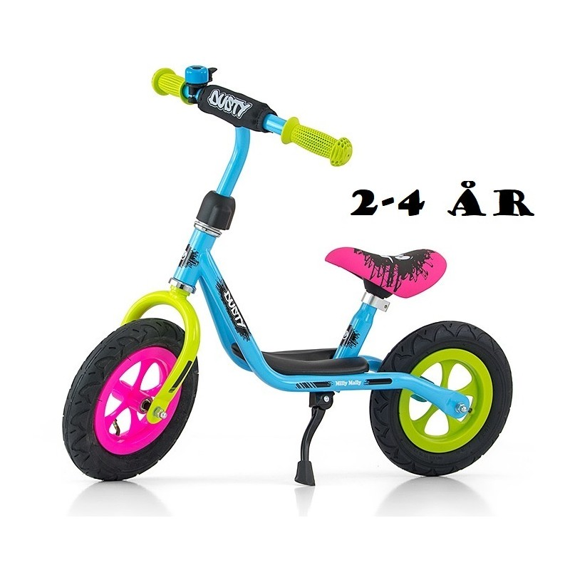 Løbecykel Dusty Multi Color fra Milly Mally 2 - 4 år