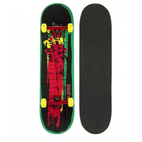 Image of   Black Dragon RASTA Skateboard