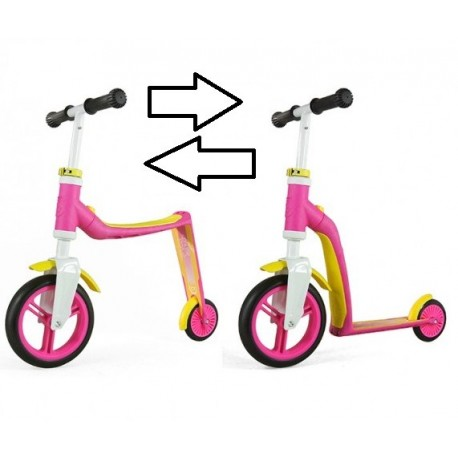 Image of   2i1 Løbecykel & Løbehjul Highway Baby Pink gul