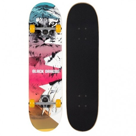 Image of   Black Dragon Street Native Skateboard LION