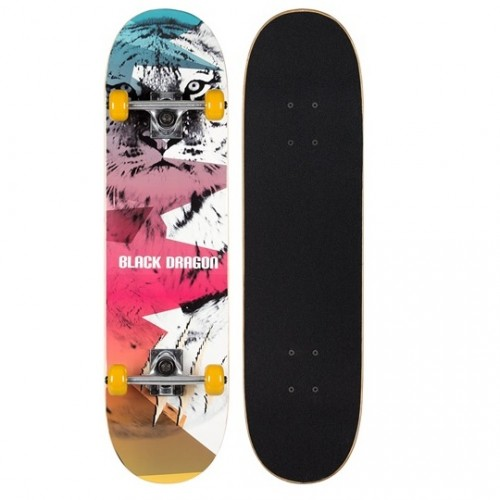 Black Dragon Street Native Skateboard LION