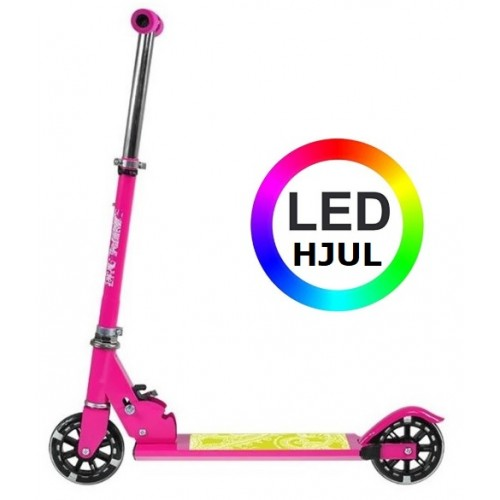 NILS 120 mm LED LYS Løbehjul pink